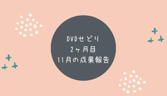 DVDせどり2ヶ月目の11月の成果報告